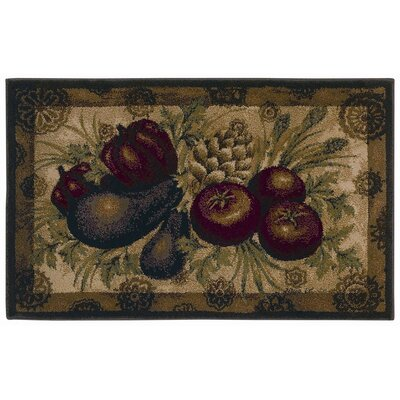 Shaw Rugs Reflections Medallion Veggies Novelty Rug