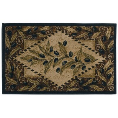 Reflections Olive Diamond Novelty Rug