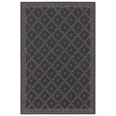 Woven Expressions Gold Trellis Leaf Chocolate Rug