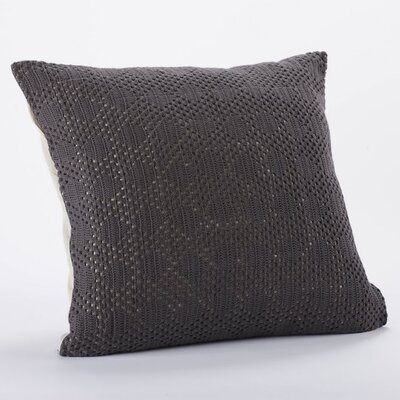 Diamond Crochet Linen Organic Cotton Decorative Pillow