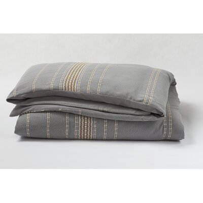 Coyuchi Rippled Stripe Duvet Cover