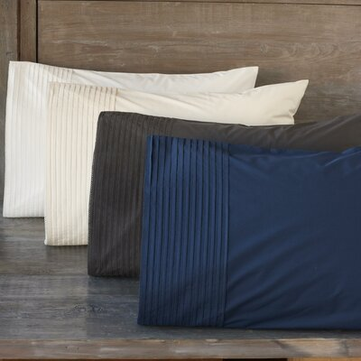 Coyuchi Pin Tuck Percale 300 Thread Count Pillowcase (Set of 2)