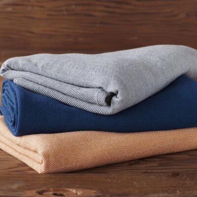 Coyuchi Herringbone Organic Wool Blanket