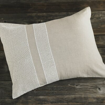 Coyuchi Labyrinth Embroidered Linen Sham