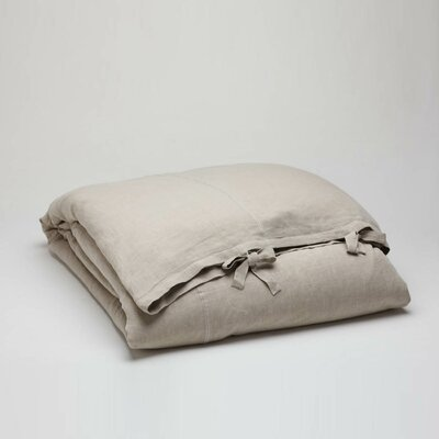 Stone Washed Linen Duvet Cover Collection Wayfair