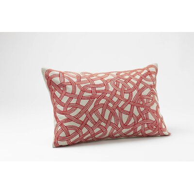 Coyuchi Endless Embroidered Linen Decor Pillow