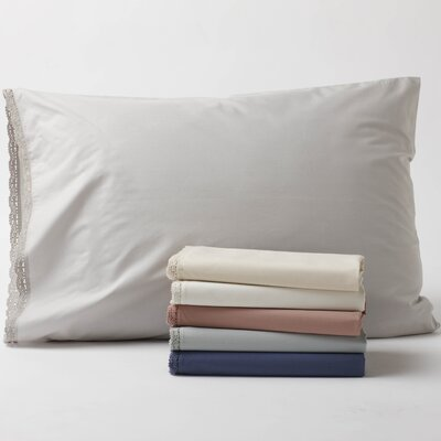 Coyuchi Lace 220 Percale Organic Cotton Sham