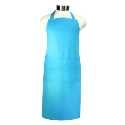 "MU Kitchen MUincotton 27"" x 35"" Full Apron in Sea Blue"