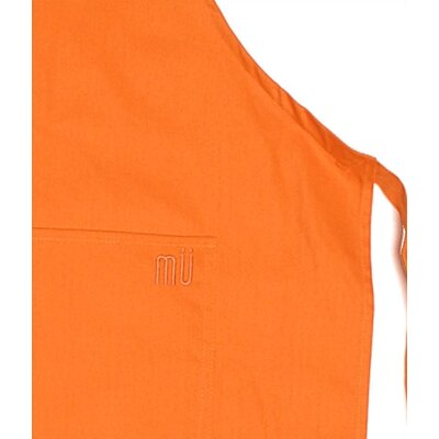"MU Kitchen MUincotton 35"" Full Apron in Orange"