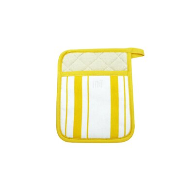 MU Kitchen MUincotton Potholder in Lemon Stripe (Set of 2)