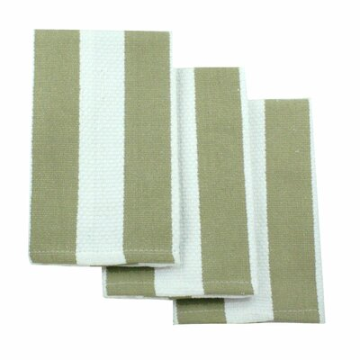 MUincotton Dish Cloth in Sand Stripe (Set of 3)