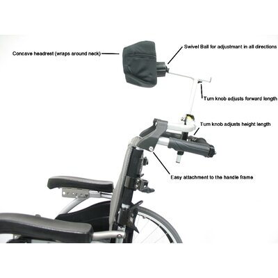 Karman Healthcare Universal Foldable Headrest