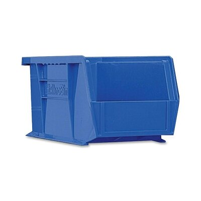 "Akro-Mils Bins, Unbreakable/Waterproof, 4-1/8""x5-3/8""x3"", Blue"