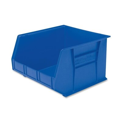 "Akro-Mils Bins, Unbreakable/Waterproof, 16-1/2""x18""x11"", Blue"
