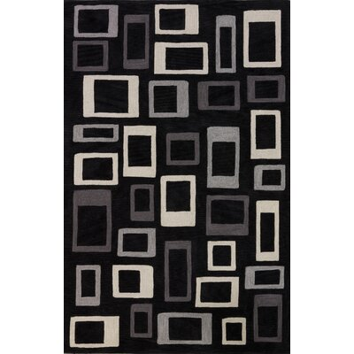 Studio Black Geometric Rug