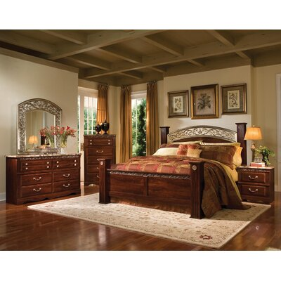 Triomphe four poster bedroom collection wayfair - Four poster king size bedroom sets ...