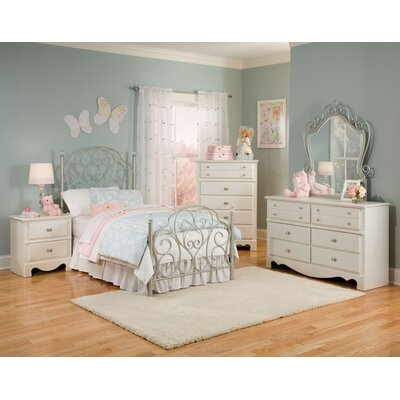 Spring rose wrought iron bedroom collection wayfair for Wrought iron bedroom furniture
