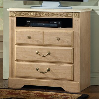Porto Fino Elite 4 Drawer Media Chest