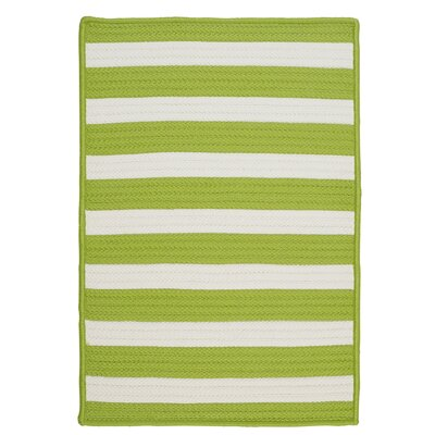 Stripe It Bright Lime Rug