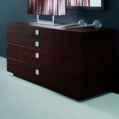 Rossetto USA Win with Metal Handle 4 Drawer Dresser