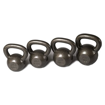 J Fit 30-50 lbs Cast Iron Kettlebell Set