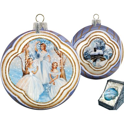 Nutcracker Fairy Ball Ornament