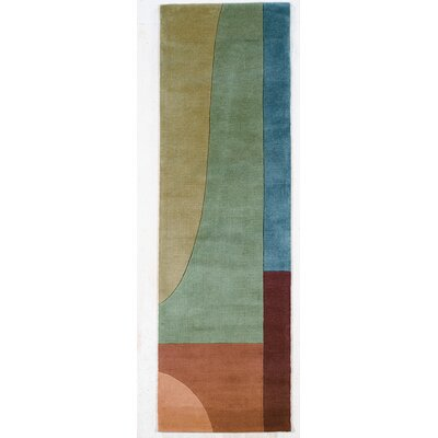 Momeni New Wave Green Multi Rug
