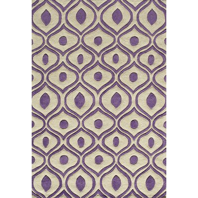 Momeni Bliss Purple Tufted Rug
