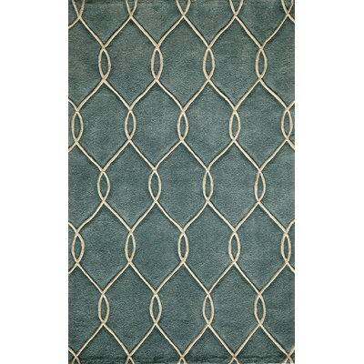 Momeni Bliss Teal Tufted Rug