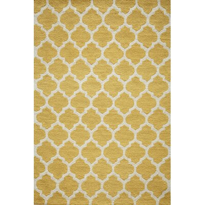 Yellow Hooked Rug | Wayfair