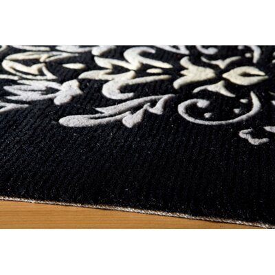 Momeni New Wave Floral Black Rug