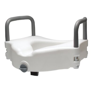 Locking Raised Toilet Seat w/ Removable Arms