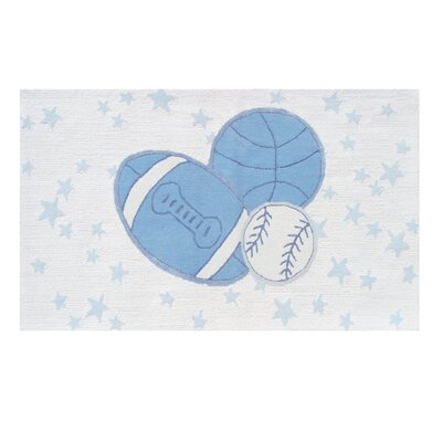 The Rug Market Baby Ball Blue / White Kids Rug