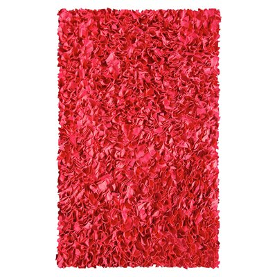 The Rug Market Shaggy Raggy Red Rug