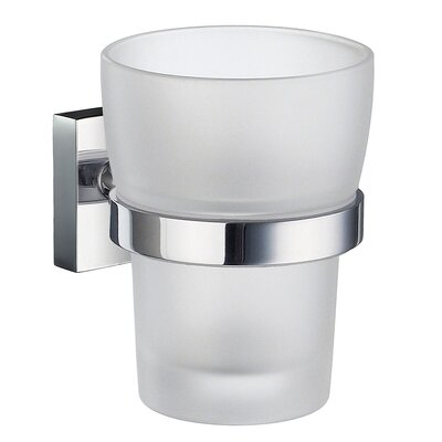 Smedbo House Holder with Frosted Glass Tumbler