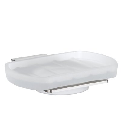 Spa Holder with Frosted Glass Soap Dish