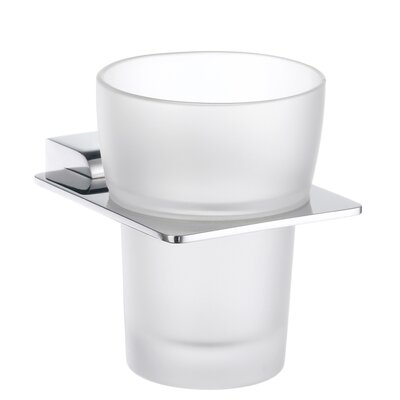 Smedbo Spa Holder with Frosted Glass Tumbler
