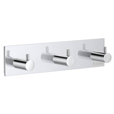 Smedbo Pool Triple Towel Hook in Polished Chrome