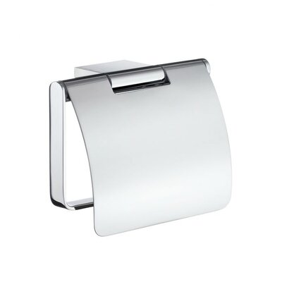 Smedbo Air Toilet Paper Holder with Cover in Polished Chrome