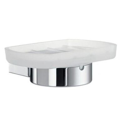 Smedbo Air Frosted Glass Soap Dish Holder in Polished Chrome