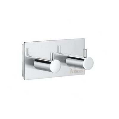 Smedbo Pool Double Towel Hook in Polished Chrome