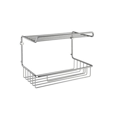 Smedbo Sideline Guest Towel Basket in Polished Chrome