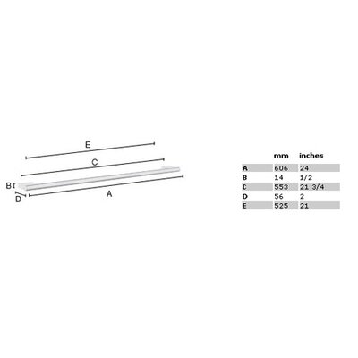 "Smedbo Air 24"" Single Towel Bar in Polished Chrome"