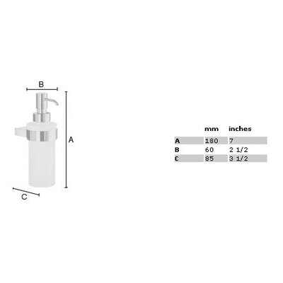 Smedbo Air Frosted Glass Soap Dispenser