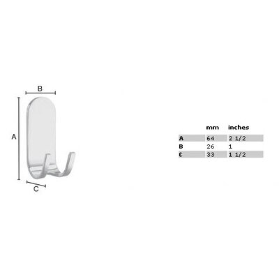 Smedbo Sideline Adhesive Wall Mounted Holder