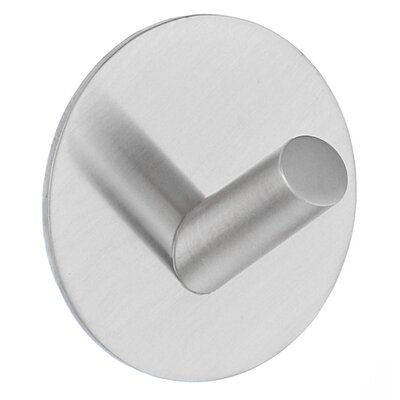 "Smedbo Beslagsboden 2"" Design Self Adhesive Hook in Brushed Stainless Steel"