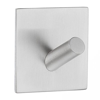 Smedbo Beslagsboden Design Self Adhesive Hook in Brushed Stainless Steel