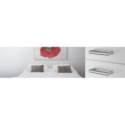 Smedbo Beslagsboden Rectangular Drawer Pull in Brushed Chrome