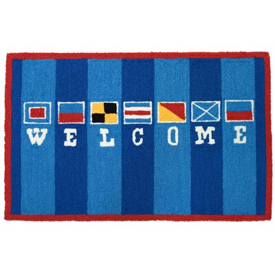 Homefires Welcome Flags Rug