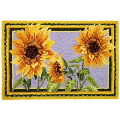 Brumlow Mills Delicate Sunflower Kitchen Rug & Reviews